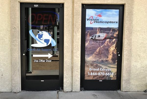 Commercial Door Window Tinting After Picture